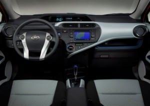 Toyota Prius Aqua interior