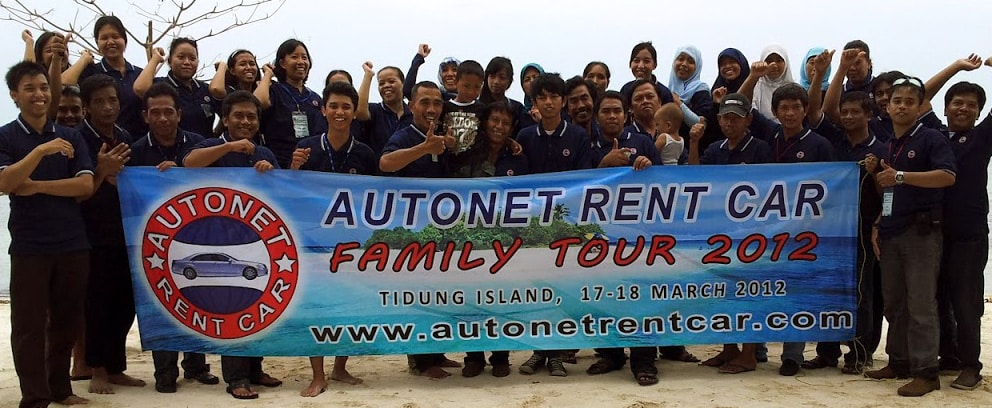 Our manager and staff Celebrating 15th years of Autonet Rent Car